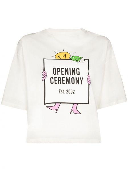Лонгслив с принтом - белая Opening Ceremony