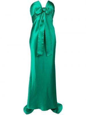 Шелковое вечернее платье - зеленое Alessandra Rich