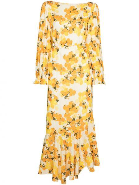 Хлопковое платье - желтое Peony