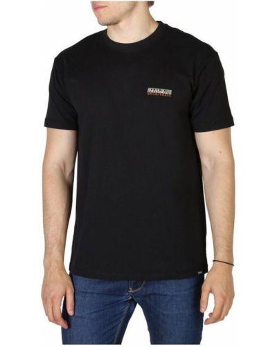 Z rękawami t-shirt okrągły z dekoltem Napapijri