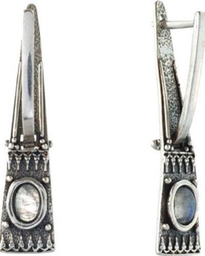 Серебряные серьги с камнями из серебра Den'o