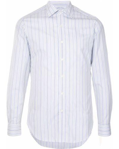 Классическая белая классическая рубашка с воротником на пуговицах Kent & Curwen