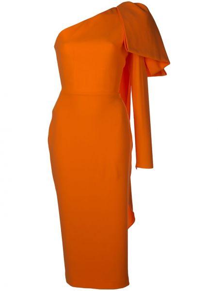 Приталенное платье миди на одно плечо на молнии двустороннее Alex Perry