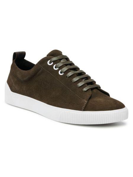 Zielone sneakersy Hugo