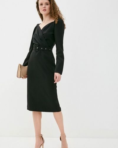 Черное платье-футляр Imocean