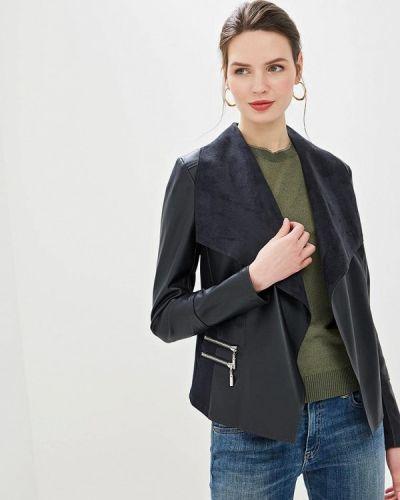 Кожаная куртка черная весенняя Wallis