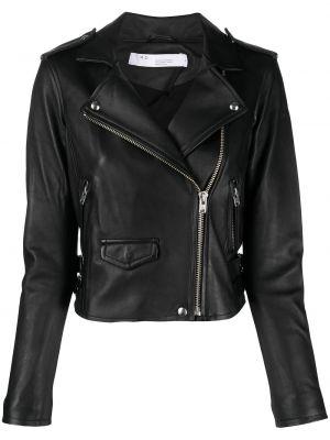 Кожаная куртка на молнии - черная Iro