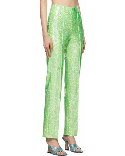 Zielone spodnie z nylonu Saks Potts