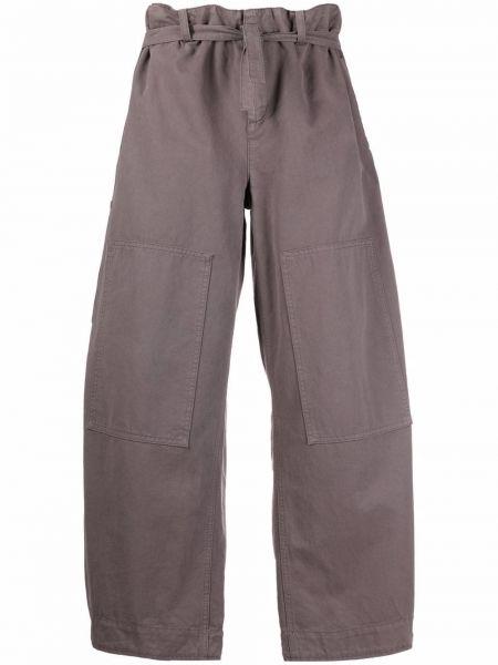 Серые хлопковые брюки Etro
