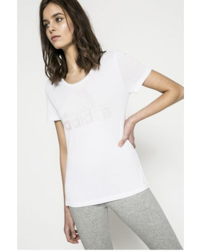 Белая футболка прямая Adidas Performance
