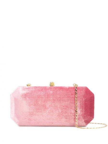 Шелковая розовая сумка через плечо с перьями с карманами Tyler Ellis