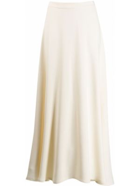 Ażurowa spódnica maxi rozkloszowana z wiskozy Dusan