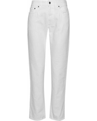 Białe jeansy bawełniane z paskiem Acne Studios