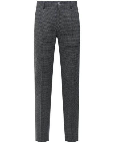 Серые шерстяные брюки Boss