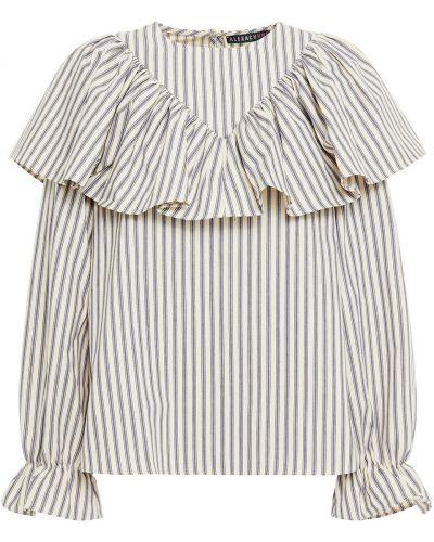 Bluzka w paski bawełniana Alexachung