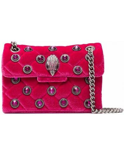 Różowa torebka na łańcuszku srebrna Kurt Geiger London