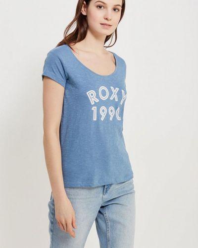 Голубое поло Roxy