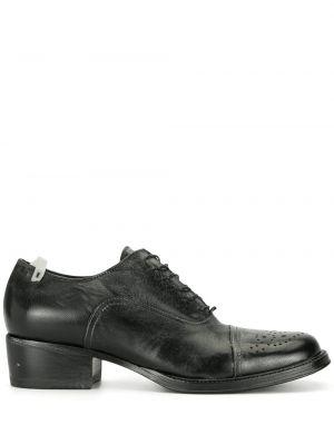 Черные кожаные туфли на каблуке Premiata
