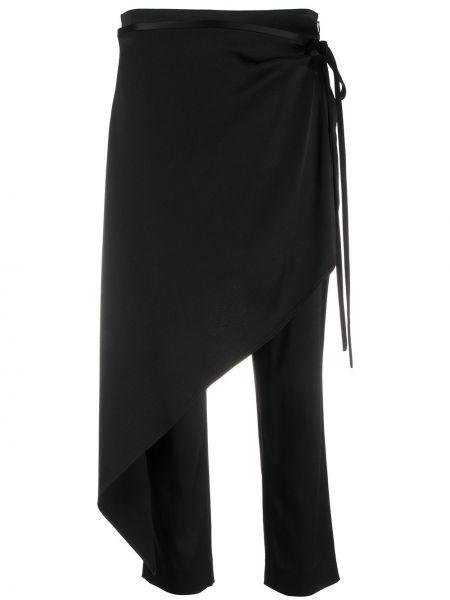Укороченные брюки с завязками черные Hellessy