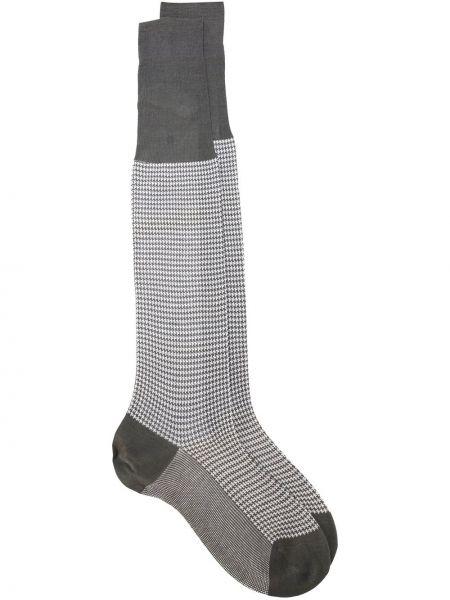 Хлопковые серые вязаные носки в рубчик Fashion Clinic Timeless