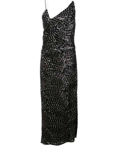 Платье миди с открытой спиной с пайетками Christian Siriano