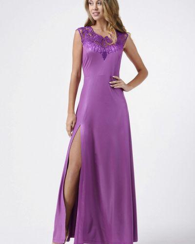 Фиолетовое платье осеннее Ricamare