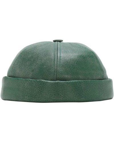 Zielony kapelusz skórzany Junya Watanabe