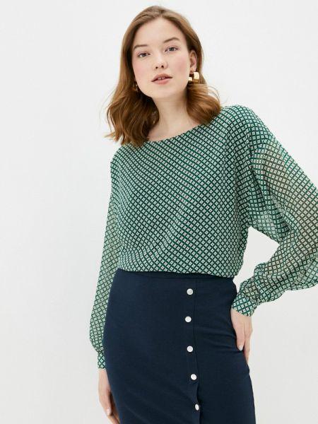 Блузка с длинным рукавом зеленый весенний Ichi