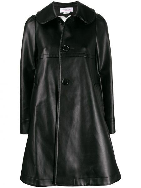 Расклешенная хлопковая черная куртка Comme Des Garçons Girl