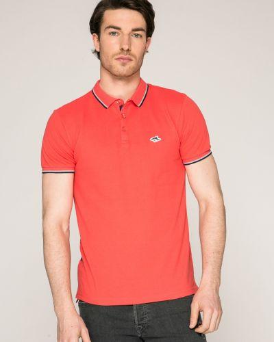 Красная футболка однотонная Le Shark