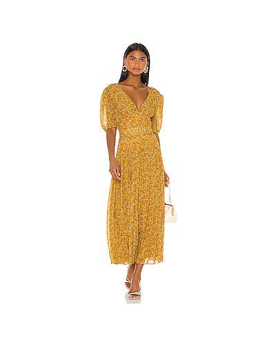 Платье макси на пуговицах плиссированное Divine Heritage