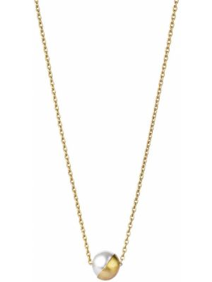 Золотистое желтое ожерелье с жемчугом Shihara