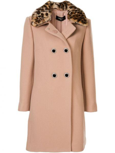 Длинное пальто с капюшоном на пуговицах Paule Ka