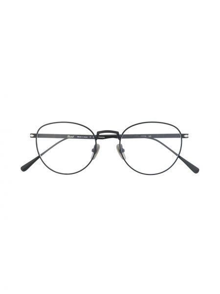 Черные очки круглые Persol