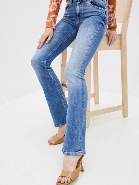 Широкие джинсы расклешенные синие Whitney