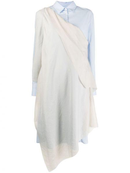 Платье макси на пуговицах плиссированное Chalayan