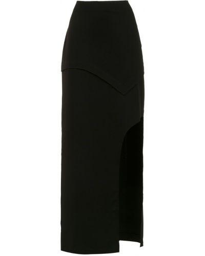 Черная юбка миди в рубчик Mara Mac