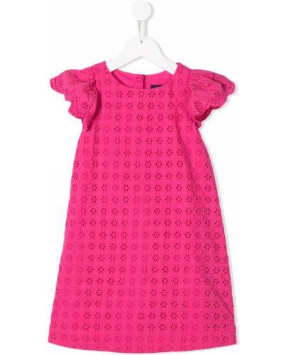 Платье с рукавами розовый на пуговицах Ralph Lauren Kids