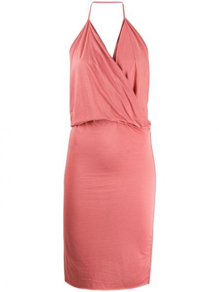 Платье миди розовое с открытой спиной Rick Owens Lilies