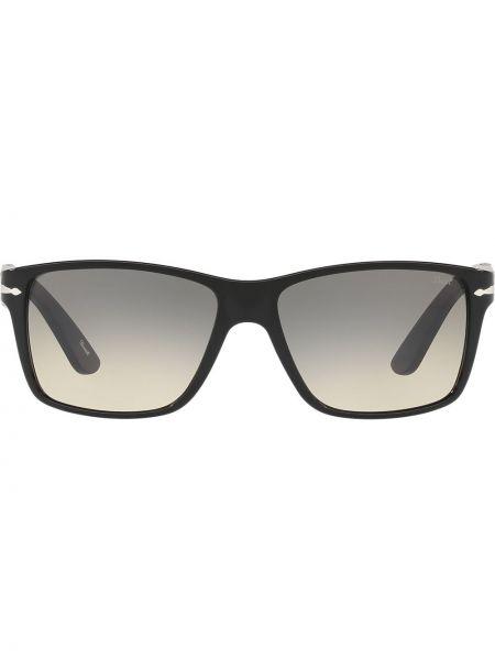 Золотистые черные солнцезащитные очки квадратные Persol