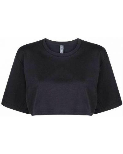Czarna t-shirt Adidas By Stella Mccartney