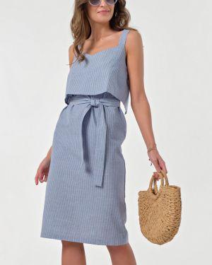 Платье с поясом на бретелях платье-сарафан Fly