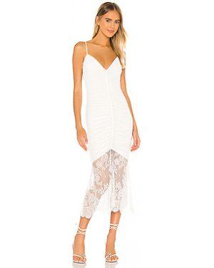Платье миди сетчатое шелковое Cami Nyc
