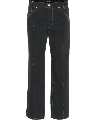 Prosto czarny bawełna bawełna jeansy Isabel Marant