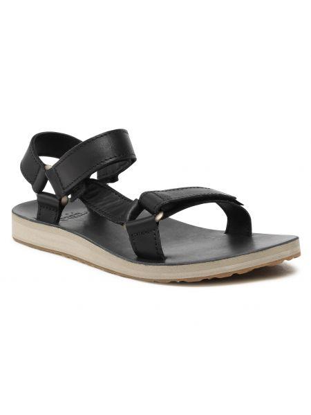Czarne sandały skórzane Teva