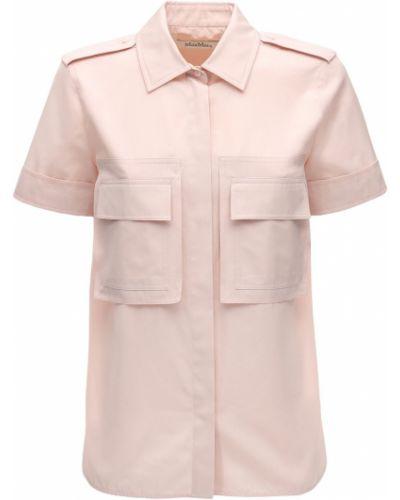 Классическая рубашка с карманами с коротким рукавом Max Mara