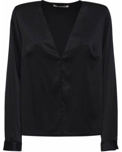 Satynowa czarna koszula Ciao Lucia