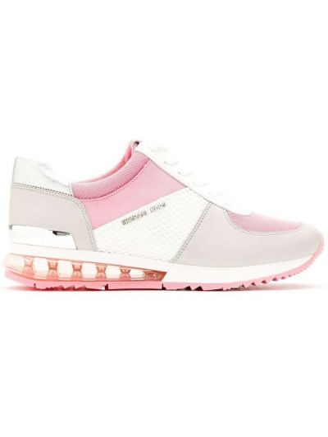 Розовые кроссовки на каблуке на шнуровке Michael Michael Kors