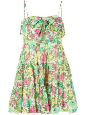 Платье мини с вырезом - зеленое Alice Mccall
