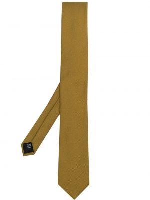 Żółty krawat z jedwabiu w szpic Dolce And Gabbana